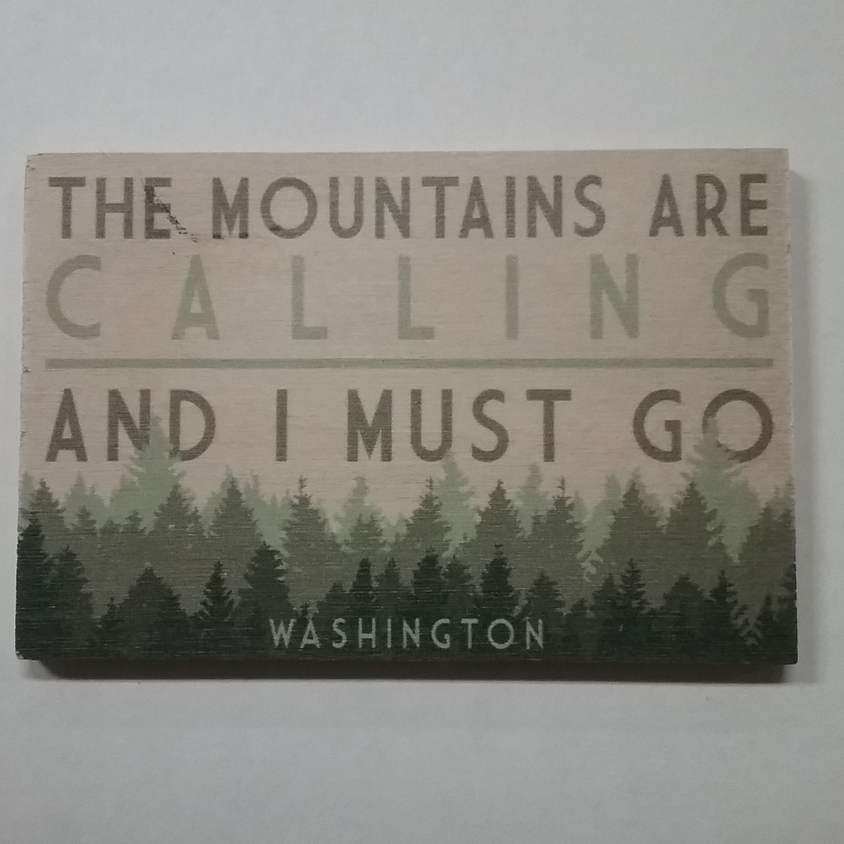 Wooden Magnet Mountains