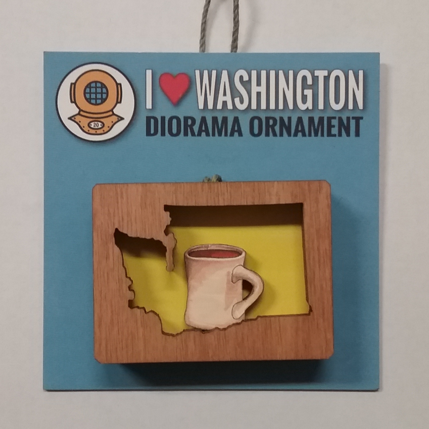 WA Coffee Diorama Ornament