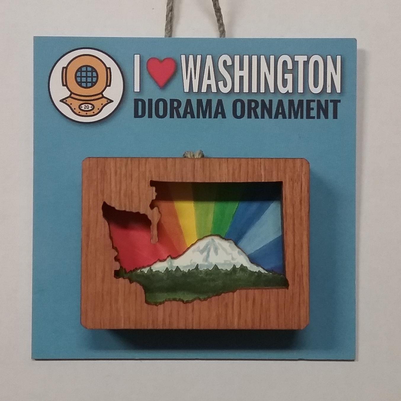 WA Rainbow Diorama Ornament