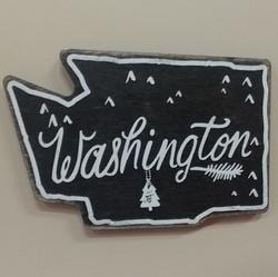 WA Wooden Chalkboard Magnet