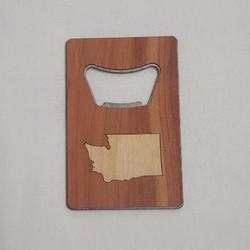 Cedar Bottle Opener WA State