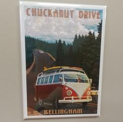 Chuckanut Drive Van Magnet