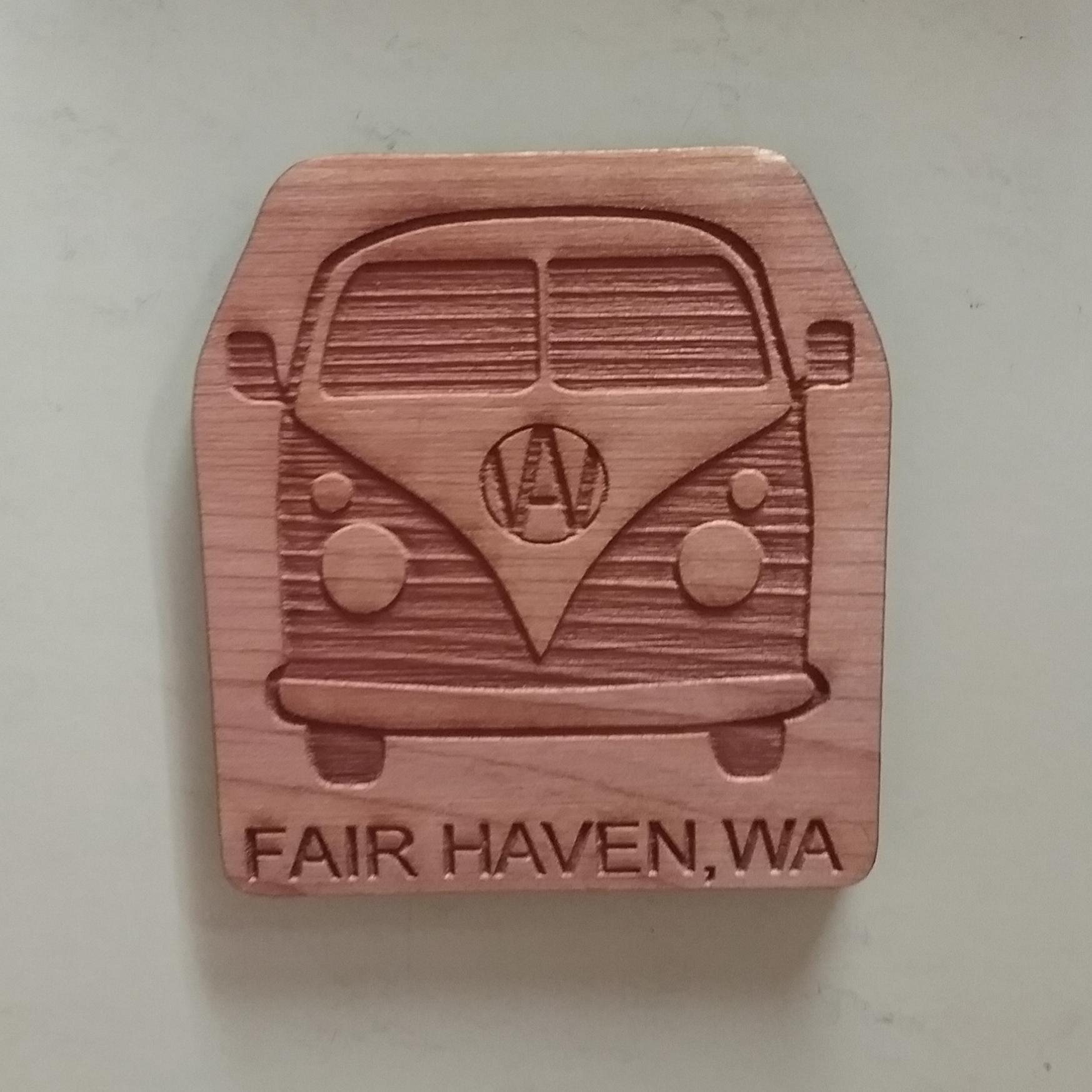 Fairhaven Hippie Van Magnet