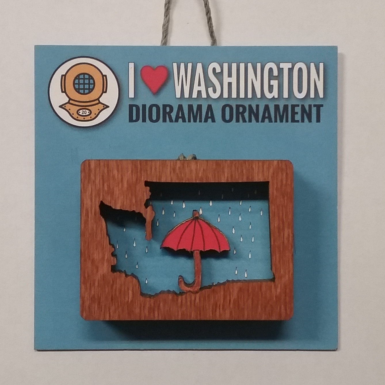 WA Umbrella Diorama Ornament