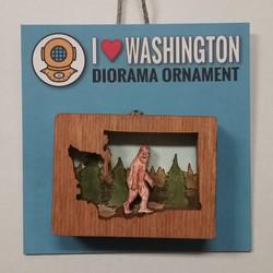 WA Sasquatch Diorama Ornament