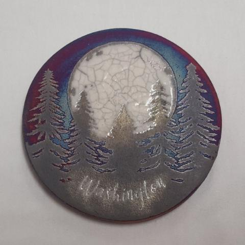 Raku Coaster Fir Tree