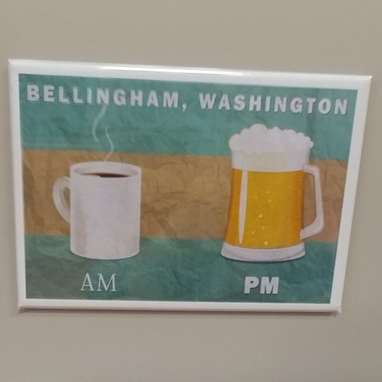 AM PM Bellingham Magnet