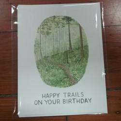 Happy Trails Birthday Card