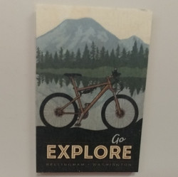 Go Explore Wood Magnet