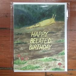 Belated Birthday Banana Slug Card