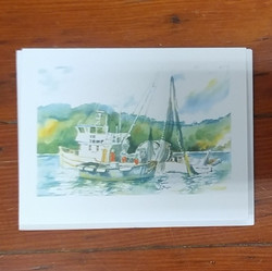 Beth Roberson Fishing Boat Card