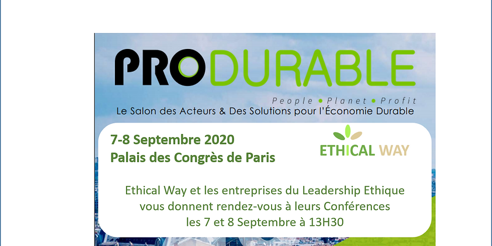 Conférence Leadership Ethique à Produrable Paris