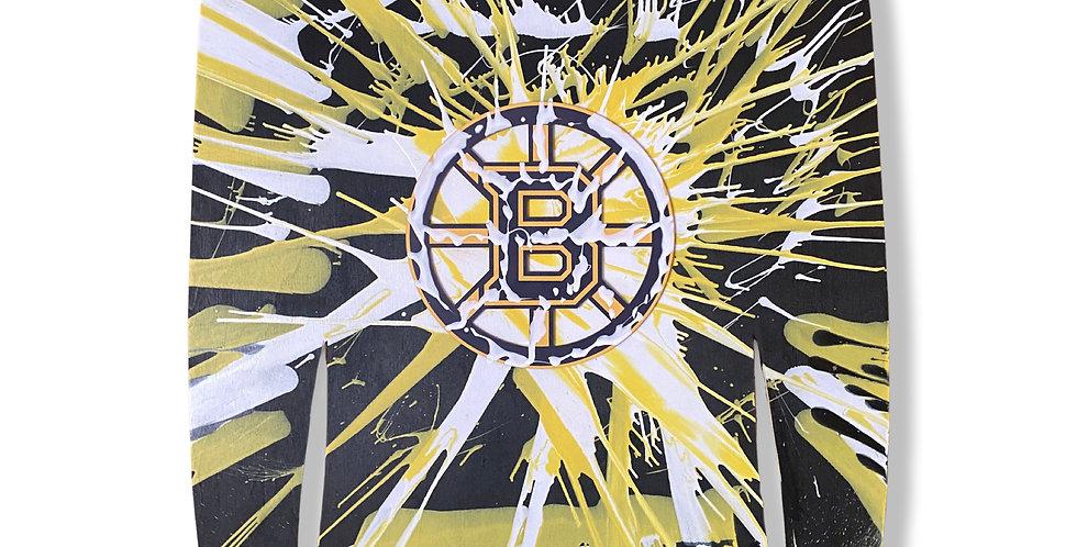 Bruins Hockey Painting