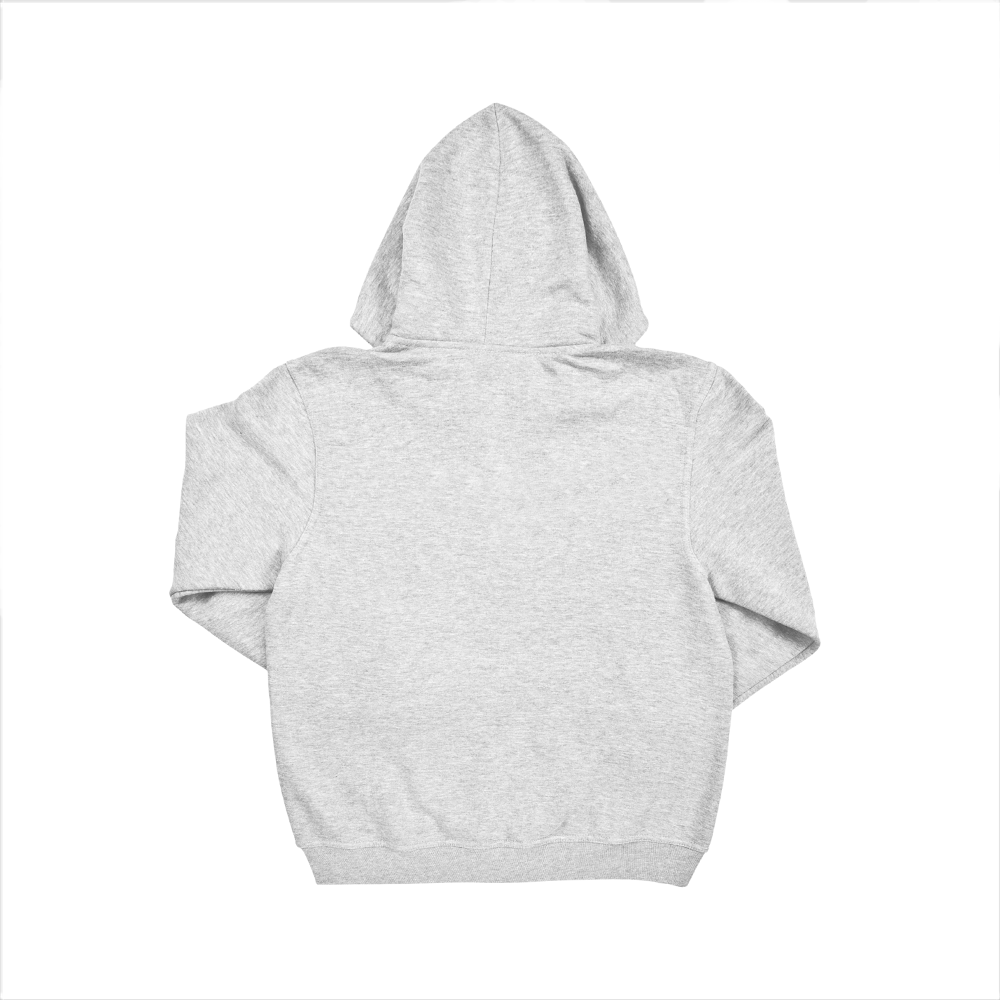 Hooded Jumper from Behind