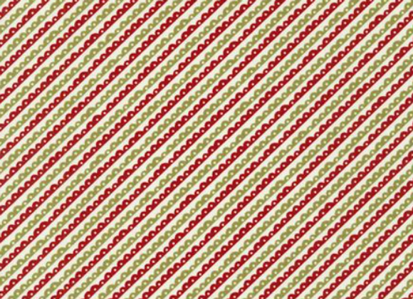 The Christmas Card Scallops Red Green by Sweetwater by Moda