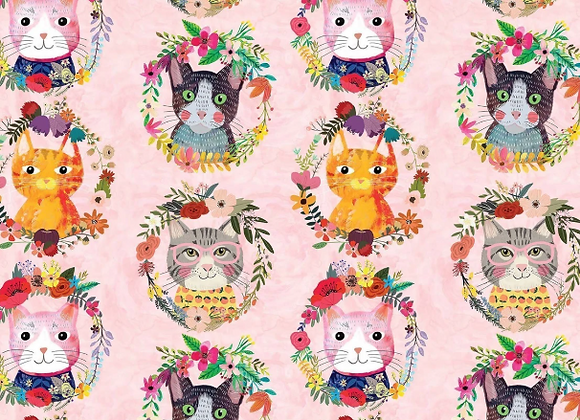 -More Floral Pets -Kitty Wreaths Pink- Mia Charro by Blend