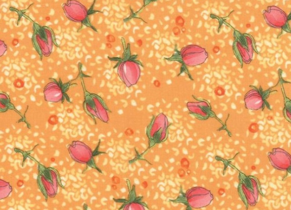 Abby Rose Citrus Rose buds by Moda