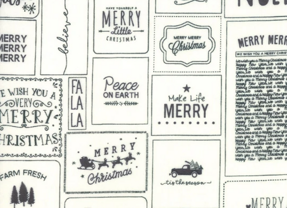 The Christmas Card Cream and Charcoal Cards by Sweetwater by Moda