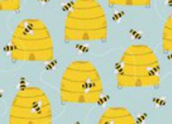 Feed the Bees -Buzzy Bees- by 3 Wishes Fabric