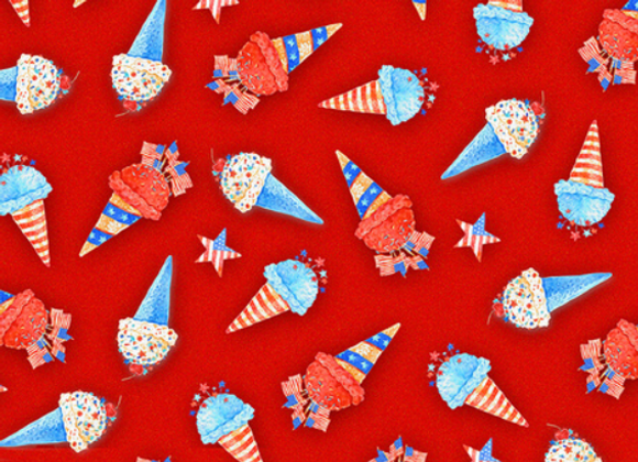 Henry Glass & Co. Star Spangled Summer Ice Cream Cones
