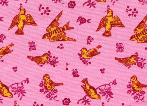 Nathalie Lete Conservatory Souvenir Birds and Love in Cheeky by Free Spirit