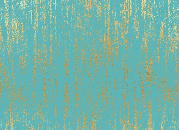 Tiger Fly Brushed Metallic Turquoise by Ruby Star Society