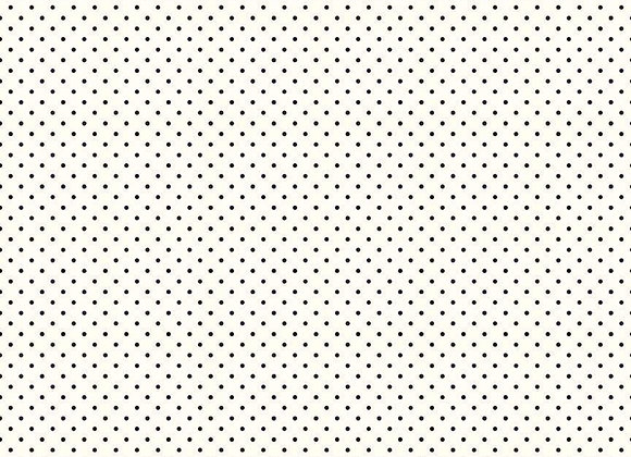 Le Creme Swiss Dot Black C600-110 by for Riley Blake