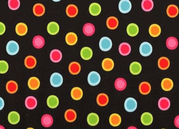 SMP8985-Black-D Trixx O' Dotts Minky by Michael Miller Fabrics