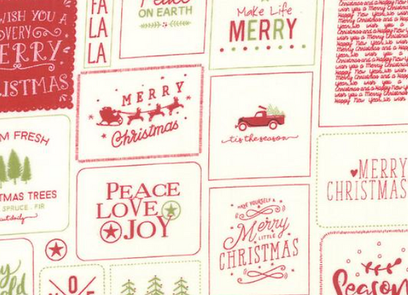 The Christmas Card - Cards Red Green by Sweetwater by Moda