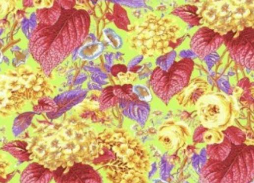 PWPJO97- CITRUS Rose and Hydrangea Citrus by Kaffe Fassett