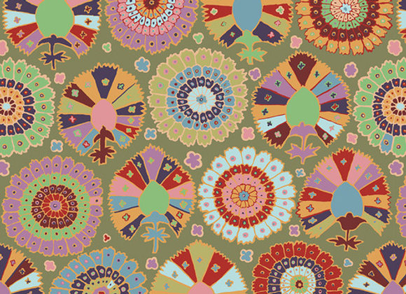 PWGP081-Moss Turkish Delight Kaffe Fassett For Free Spirit
