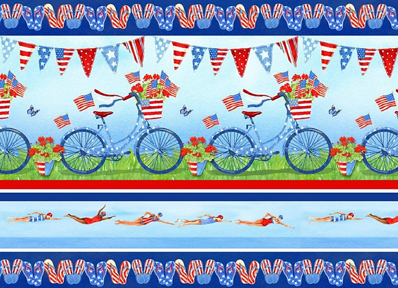 Henry Glass & Co. Star Spangled Summer Novelty Stripes