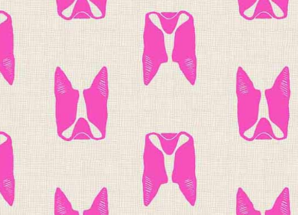 Andover -Cats and Dogs- Pink Dogs-8965-E
