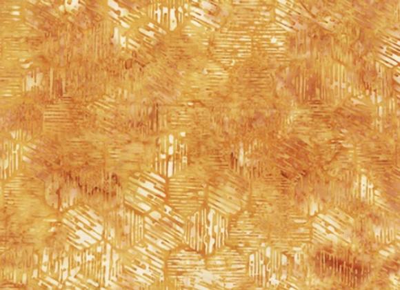 Hoffman Hexagon Batik Fabric R2215 118 Honey