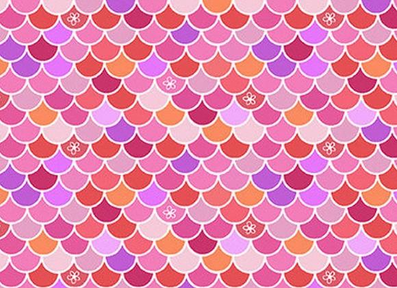 Mermaids Rock - Pink Scallop Texture by Studio E