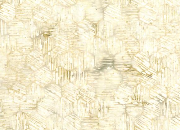 Hoffman Hexagon Batik fabric R2215 531 Papyrus