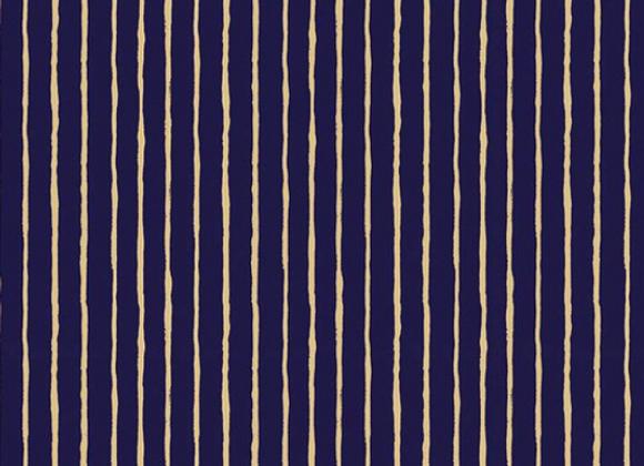 Dream World Stripes Navy Sparkle by Riley Blake