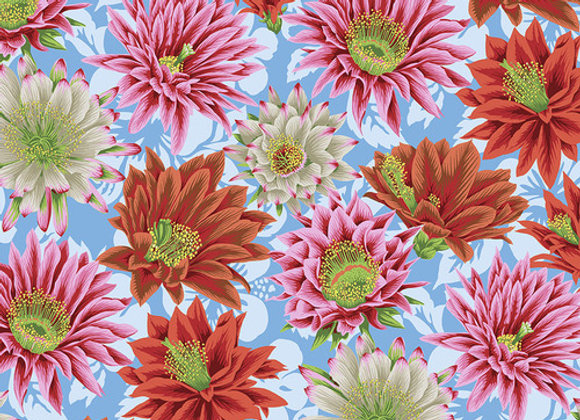 PWGP096-Multi Cactus Flower Kaffe Fassett For Free Spirit