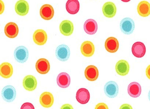 SMP8985-White-D Trixx O' Dots Minky by Michael Miller Fabrics
