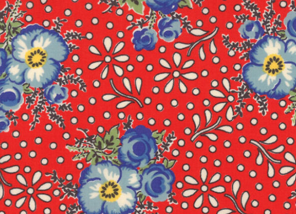 Moda Merry Go Round Red Floral by American Jane