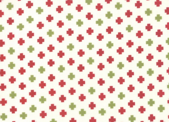 The Christmas Card Red Green Crosses by Sweetwater by Moda