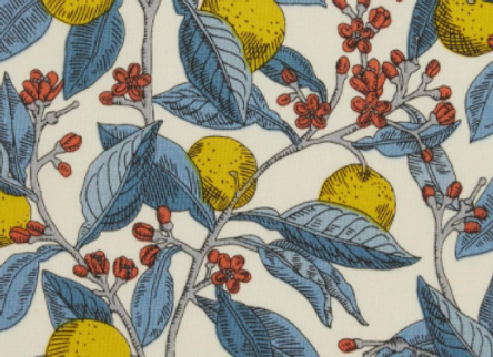 Liberty Fabric The Summer House Collection Conservatory Fruits Yellow by RB