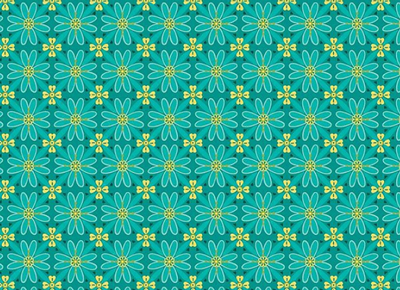 Wildflower Boutique Mosaic Teal C8831-TEAL by Riley Blake