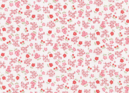 Love Letters Tic Tac Toe Cream by RIley Blake