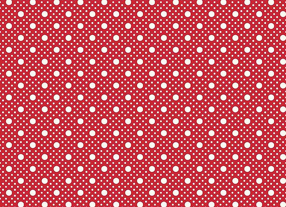 C8452-Red Storytime 30s Dots for Riley Blake