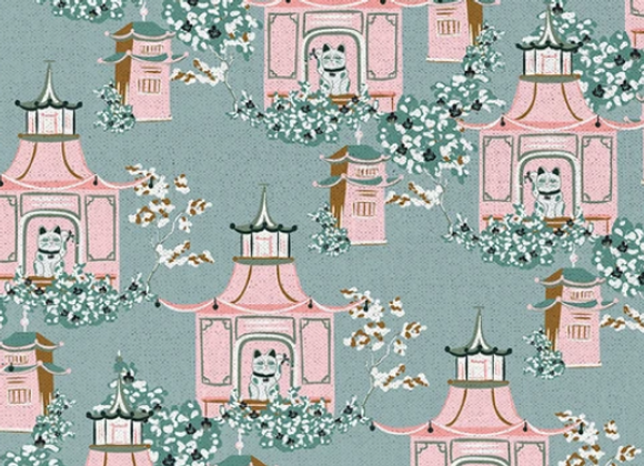 IMPERIAL GARDEN Shrine Grey120-20262 by Paintbrush Studio Fabrics