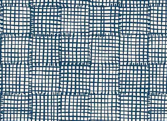 Andover -Cats and Dogs- Navy Grid A-8456-B