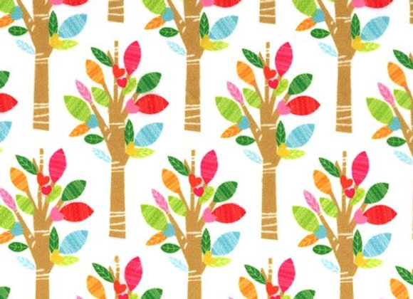SMP8986-White-D Neon Trees Minky by Michael Miller Fabrics