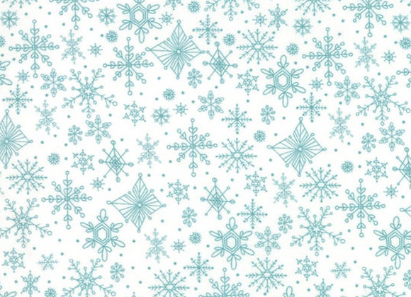 Tahoe Ski Week- Snowflakes Powder by Moda