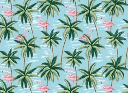 Mini Tropicals, In the Beginning Fabrics-Palm Trees & Hibiscus